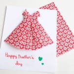 Happy mother's day card with an origami dress