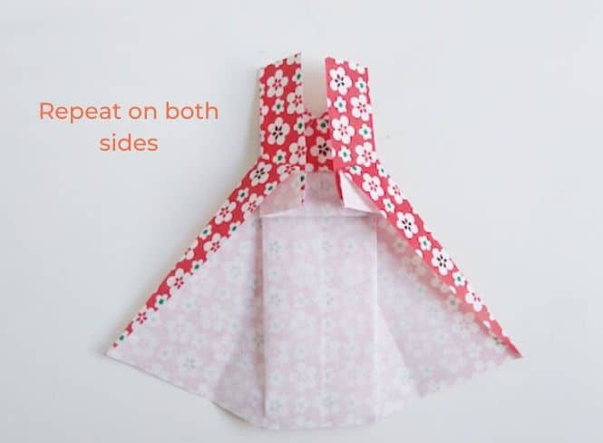 Happy mother's day card with an origami dress - step 16